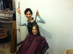 Ella and I like to play salon in the new space.