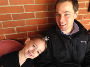Lily and Cory before ballet last Friday.
